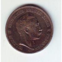 Пруссия. 2 марки 1891 г.