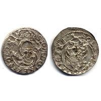 Шеляг 1609, Сигизмунд III Ваза, Рига, Редкий вариант с датой на Ав., R2. Хорошее коллекционное состояние