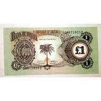 1 Фунт 1969 Биафра. Пальма. UNC.