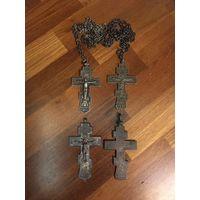 Кресты Николаевские, 2 шт, серебро