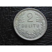 Литва 2 лита 1925 год.