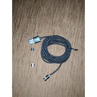 Topk 2 м светодиодный магнитный кабель Micro USB (Type- C) iPhone (Apple)