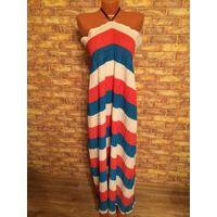 Классное платье в пол на красавицу 54-56-58 размера, яркое и легкое, идеально на отдыхе, новое, так и не надела, длина 120 см.
