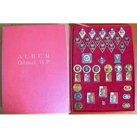 Набор знаков Войска Польского 1960-1980 гг., Польша, 41 знак, подарочная коробка-альбом