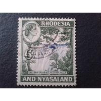 Родезия и Ньясаленд 1959 колония Англии стандарт водопад Виктория