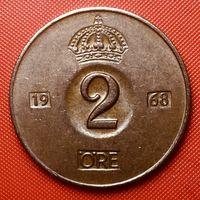 26-17 Швеция, 2 эре 1968 г.