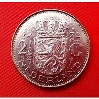 33-10 Нидерланды, 2 1/2 гульдена 1972 г.