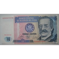 Перу 10 интис 1987 г.