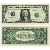 США. 1 доллар (образца 1977 года, K, Техас, P462a, UNC)