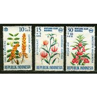 Флора. Цветы. Индонезия. 1966. Серия 3 марки. Чистые