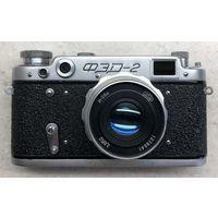 Фотоаппарат ФЭД-2 1958 г. с объективом Индустар-26м готовый к съёмке