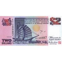 Сингапур, 2 доллара, 1992 г., UNC