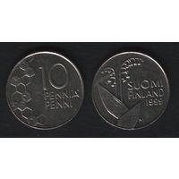 Финляндия km65 10 пенни 1999 год (M) (f31)*