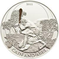 """Палау 2 доллара 2011г. Библейские истории: """"Каин и Авель"""". Монета в капсуле; подарочном футляре; номерной сертификат; коробка. СЕРЕБРО 15гр."""