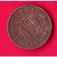 02-07 Сьерра-Леоне, 1/2 цента 1964 г.