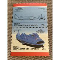 Бекия. Сент-Винсент и Гренадины. Автомобили мира. Bluebird II 1964. Марка из серии