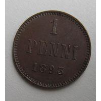 Финляндия.  1 пенни 1893    .13-4