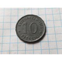 ГЕРМАНИЯ. 10 пфеннигов. Нотгельд, г. Хаген. 1918