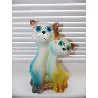 Копилка коты керамическая. Новая