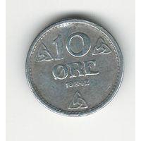 Норвегия 10 эре 1942 года