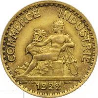 РАСПРОДАЖА!!! - ФРАНЦИЯ 1 франк 1922 год