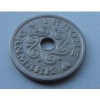 1 крона Дания 1992 г.в. KM# 873.1 KRONE, из коллекции