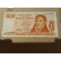 Аргентина 1 песо 1970-1973 Разные подписи