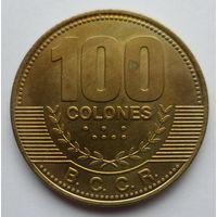 """Коста-Рика 100 колон 2007 """"Герб"""""""