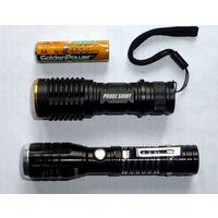Мини фонарик на диоде Cree Q5, 1xAA/14500, зум, 3 режима, металл