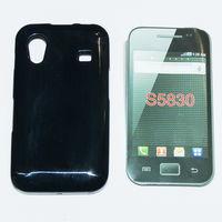 958 Чехол для Samsung S5830 силиконовый чёрный