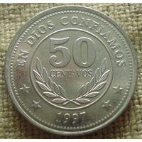 50 сентаво 1997 Никарагуа