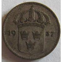 Швеция 10 эре 1937 серебро