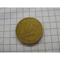 Бразилия 10 центаво 2003 km649.3