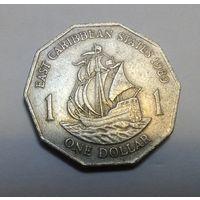 Карибы Восточно Карибские штаты 1 доллар 1989