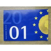 Нидерланды годовой сет монет 2001 в оригинальной упаковке - UNC