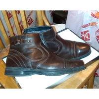 Ботинки зимние, натуральная кожа и мех, р-р 40