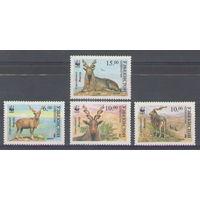 Узбекистан WWF Бараны 1995 год чистая полная серия из 4-х марок