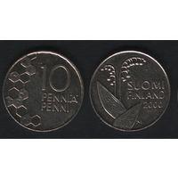 Финляндия km65 10 пенни 2000 год (M) (f31)*