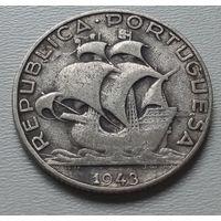 Португалия 2,5 эскудо 1943 г.