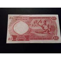Нигерия 1 фунт 1967 год состояние  aUNC