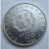 Греция 100 драхм 1982. Афины. Серебро.  .1Е-41