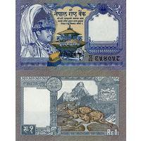 Непал  1 рупия  1991 год  UNC