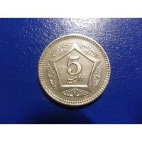 Пакистан 5 рупий 2004 г.