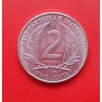 59-11 Восточные Карибы, 2 цента 2011 г.