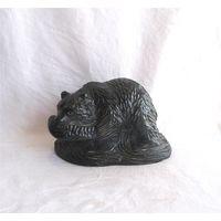 Статуэтка Медведь-рыбак Камень Канада Aardik collection