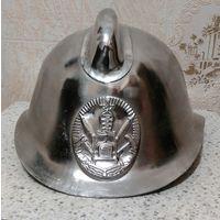 Каска шлем пожарного редкая хромированная СССР