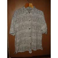 Рубашка мужская с коротким рукавом тэнниска р-р 48