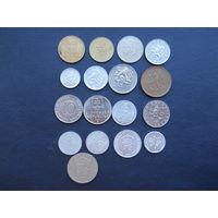 Монеты Чехии и Словакии. С 1 рубля.