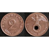 YS: Германия, Третий Рейх, 2 рейхспфеннига 1940E, КМ# 90
