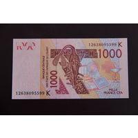 Сенегал 1000 франков 2012 UNC